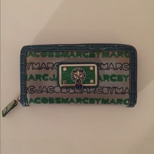 Marc Jacobs Large Leather Wallet with Lock Charm